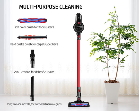Clatterans CL-VC-17 2 In 1 Cordless Vacuum Cleaner Stick and Handheld Vacuum Bagless 2 Speeds
