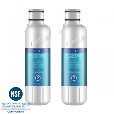 Clatterans CL-Z005 Replacement Water Filter for Filter 2 EDR2RXD1 W10413645A , 46-9930, 2-Pack