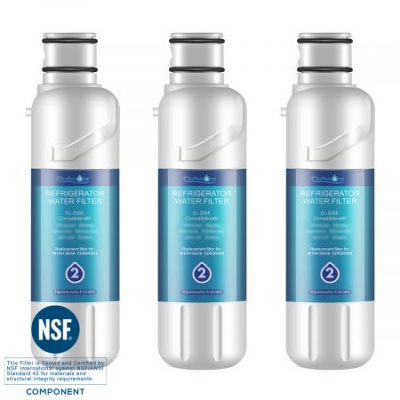 3-Pack Clatterans CL-Z005 Replacement Refrigerator Water Filter