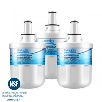 Clatterans CL-Z010 Replacement for Samsung DA29-00003B, RF268ABRS Water Filter, DA2900003G Replacement, 3-Pack