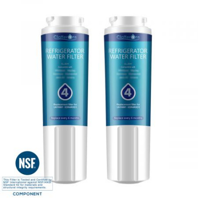 Clatterans CL-Z011 Replacement Water Filter 4 EDR4RXD1 UKF8001 Refrigerator Filter Replacement, 2-Pack