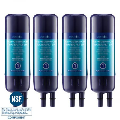 Clatterans CL-RF27 Replacement Refrigerator Water Filter for Filter1 EDR1RXD1 W10295370 & Kenmore 9930 Water Filter, 4-Pack