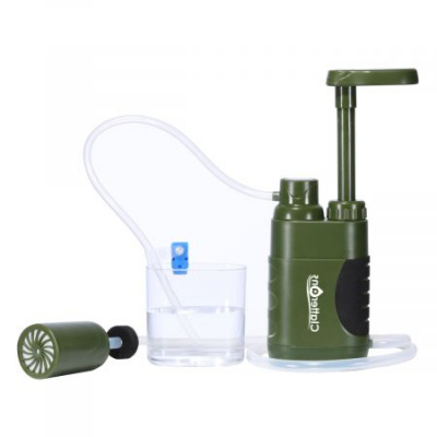 Hiking Water Filter Pump Portable Camping Purifier 0.01 Micron 4 Stage Water Filtration Purification Kit