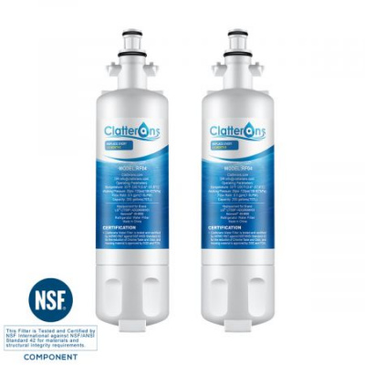 Clatterans CL-RF04 LG Refrigerator Water Filter LT700P ADQ36006101 & Kenmore 469690 Water Filter, 2-Pack