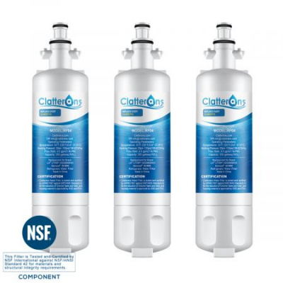 Clatterans CL-RF04 LT700P LG ADQ36006101 Refrigerator Water Filter & Kenmore 469690 Water Filter, 3-Pack