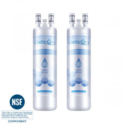 Clatterans CL-RF06 Frigidaire Pure Source 3 Water Filter, WF3CB Refrigerator Water Filter, 2-Pack