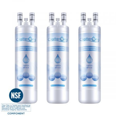 Clatterans CL-RF06 Frigidaire WF3CB Refrigerator Water Filter Pure Source 3 water filter, 3-Pack