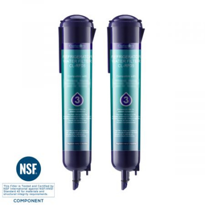 Clatterans CL-RF05 Replacement Refrigerator Water Filter 3 EDR3RXD1 4396710 4396841 & Kenmore 9030 Water Filter, 2-Pack