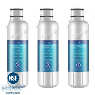 Clatterans CL-Z005 Replacement Refrigerator Water Filter for KRMF706ESS Filter, 3-Pack