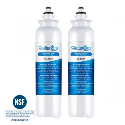 Clatterans CL-RF80 LG Refrigerator Water Filter LT800P ADQ73613401 Replacement & Kenmore 469490 Water Filter, 2-Pack