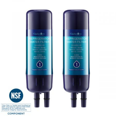 Clatterans CL-RF27 Replacement for Refrigerator Water Filter 1 & EVERYDROP EDR1RXD1, 2-Pack