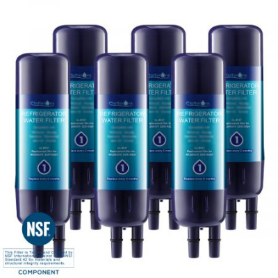 Clatterans CL-RF27 Replacement Refrigerator Water Filter 1 EDR1RXD1 W10295370A W10295370 & Kenmore P4RFKB2 Filter, 6-Pack