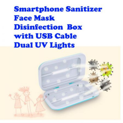 Portable UV Sterilizer Box with Ozone Disinfection for Cellphone, Toothbrush, Makeup, Salon Tools 20CMX11.8CMX4.5CM