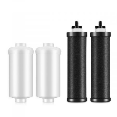 Clatterans Replacement Water Filter for Black Berkey BB9-2 & Fluoride Filters PF-2  Set of 4