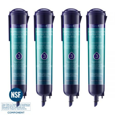 Clatterans CL-RF05 Replacement for Refrigerator Water Filter 3 EDR3RXD1 4396710 4396841 & Everydrop Filter 3, 4-Pack