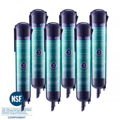 Clatterans CL-RF05 Replacement for Refrigerator Water Filter 3 EDR3RXD1 4396710 4396841, 6-Pack