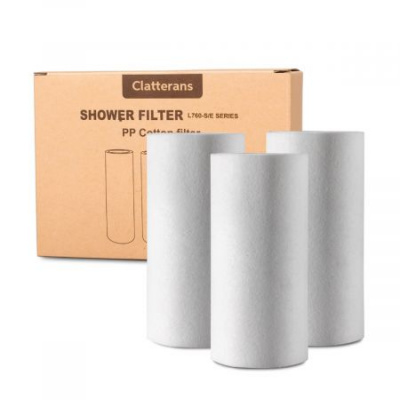 Clatterans PP Cotton Filter Replacement 3 Pack for Shower Filter SF-760E Series