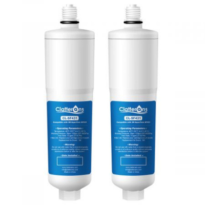 Clatterans Replacement water filter for 3M Aqua-Pure AP431 Whole House Scale Inhibition Inline Water System AP430SS, Helps Prevent Scale Build Up On Hot Water Heaters and Boilers (Pack of 2)