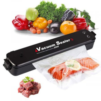 Upgraded Vacuum Sealer Machine Automatic Food Sealer for Food Preservation, Suitable for Dry & Moist Food, Portable Sealer with 15 Vacuum Sealer Bags Vacuum and Seal Modes