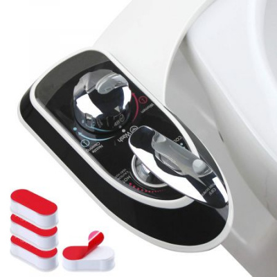 Hot and Cold Water Non-Electric Bidet Toilet Attachment for Sanitary and Feminine Wash With Self-cleaning Dual Nozzle