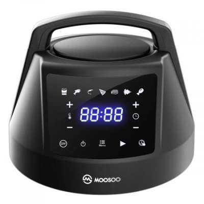MOOSOO 6 QT Air Fryer Lid for Instant Pot with 7 Optional Presets, Turn Your Electric Pressure Cooker Into Air Fryer in Seconds, 85% Less Oil Air Fryer Lid with Digital LED Display & IMD Touch Panel