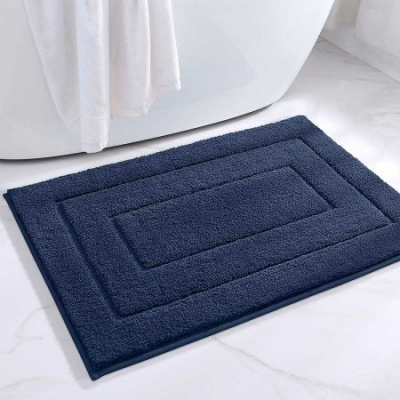 "Bathroom Rug Mat, Extra Soft Absorbent Premium Bath Rug, Non-Slip Comfortable Bath Mat, Carpet for Tub, Shower, Bath Room, Machine Wash Dry 16""x24"" -Navy Blue"