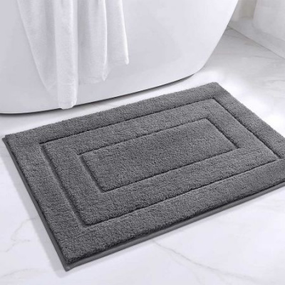 "Bathroom Rug Mat, Extra Soft Absorbent Premium Bath Rug, Non-Slip Comfortable Bath Mat, Carpet for Tub, Shower, Bath Room, Machine Wash Dry 24""x35.4"" -Grey"